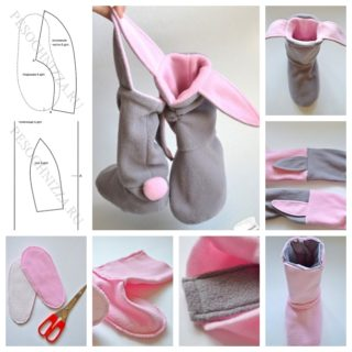 Wonderful DIY  Lovely Bunny Slippers