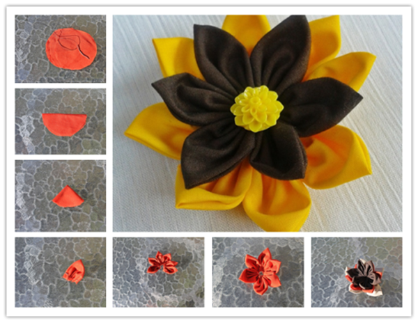 colorful fabric flower F Wonderful DIY Colorful Fabric Flower