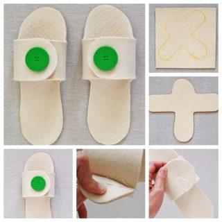 Wonderful DIY Handmade felt Slippers