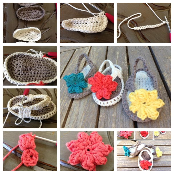d73af9514 Wonderful DIY Crochet Baby Sandals With Flower
