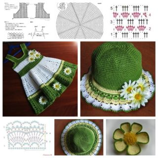 Crochet Girls Hat and Dress Set – Tutorial and Guide