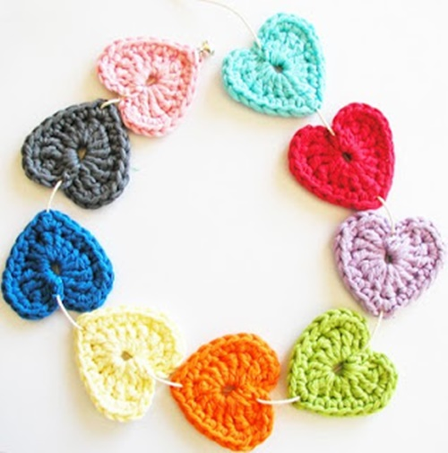 crochet heart 1 Wonderful DIY Lovely Crochet Hearts