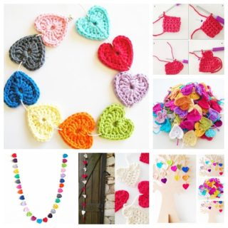Wonderful DIY Lovely Crochet Hearts