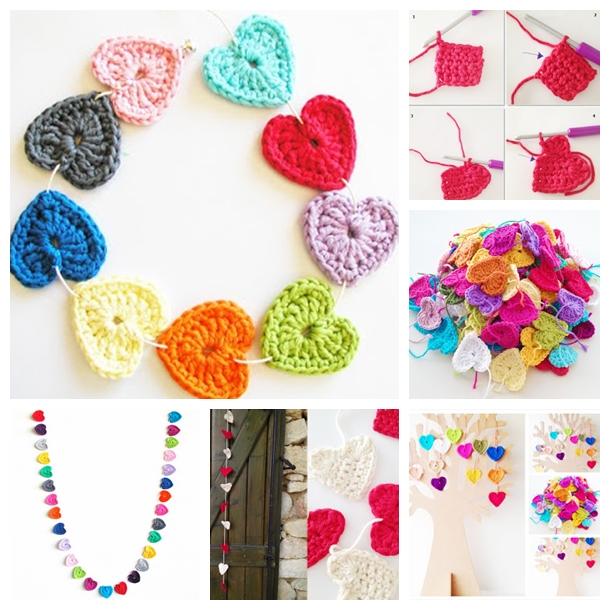 crochet heart F