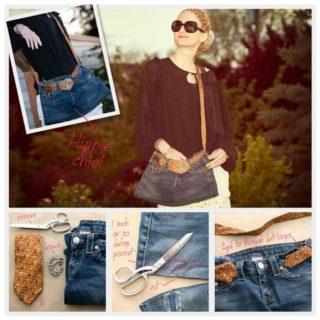 Wonderful DIY Crossbody Bag From Old Jeans