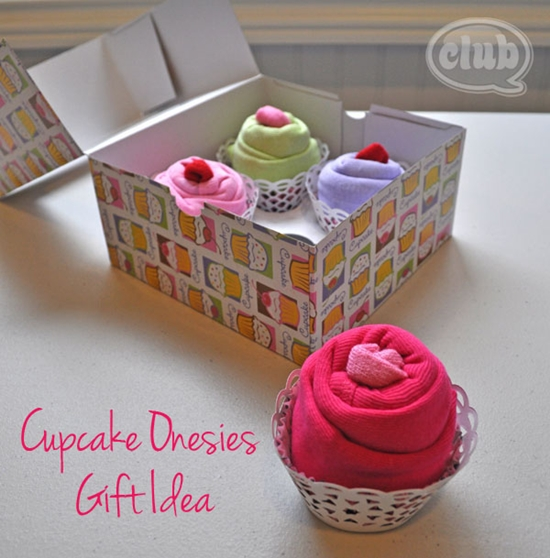 cupcake gift for baby 0 Wonderful DIY Cupcake Onesies Gift For Baby