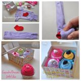 Wonderful DIY Cupcake Onesies Gift For Baby