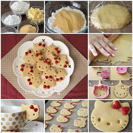 cute Hello Kitty cookies Wonderful DIY Cute Hello Kitty Cookies