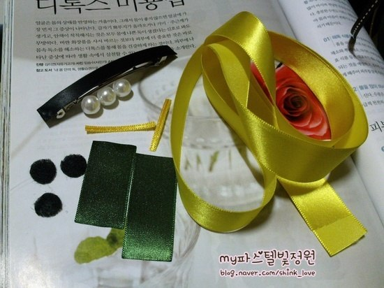 diy ribbon flower hair clip 03 Wonderful DIY Ribbon Rose Hair Clip With Peal
