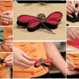 Wonderful DIY  Lovely Dragonfly Brooch with  Zippers
