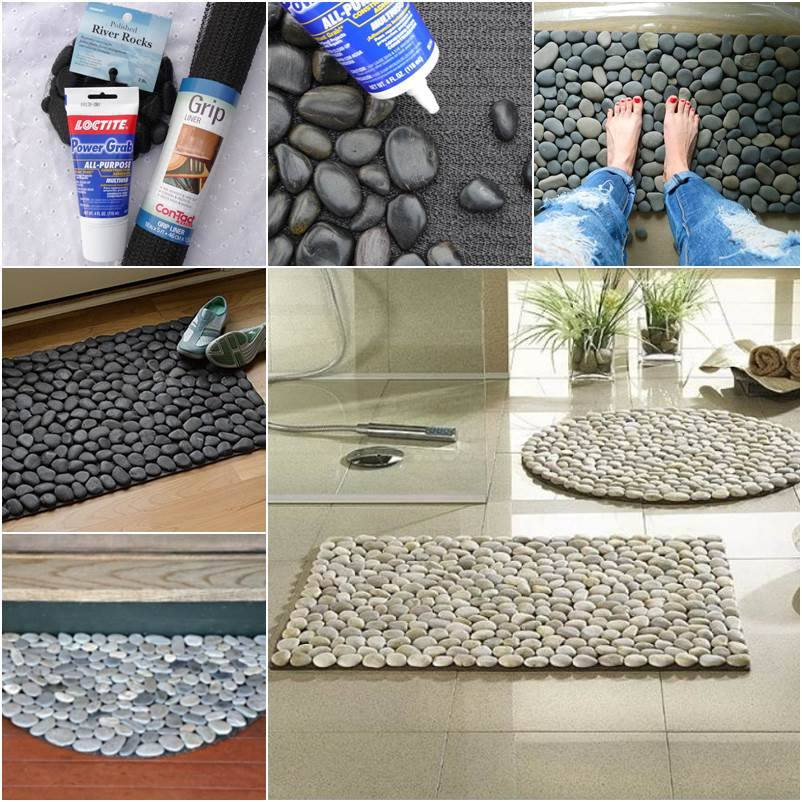 fantastic Stone Floor Mat Fantastic DIY Stone Floor Mat   Free Guide and Tutorial