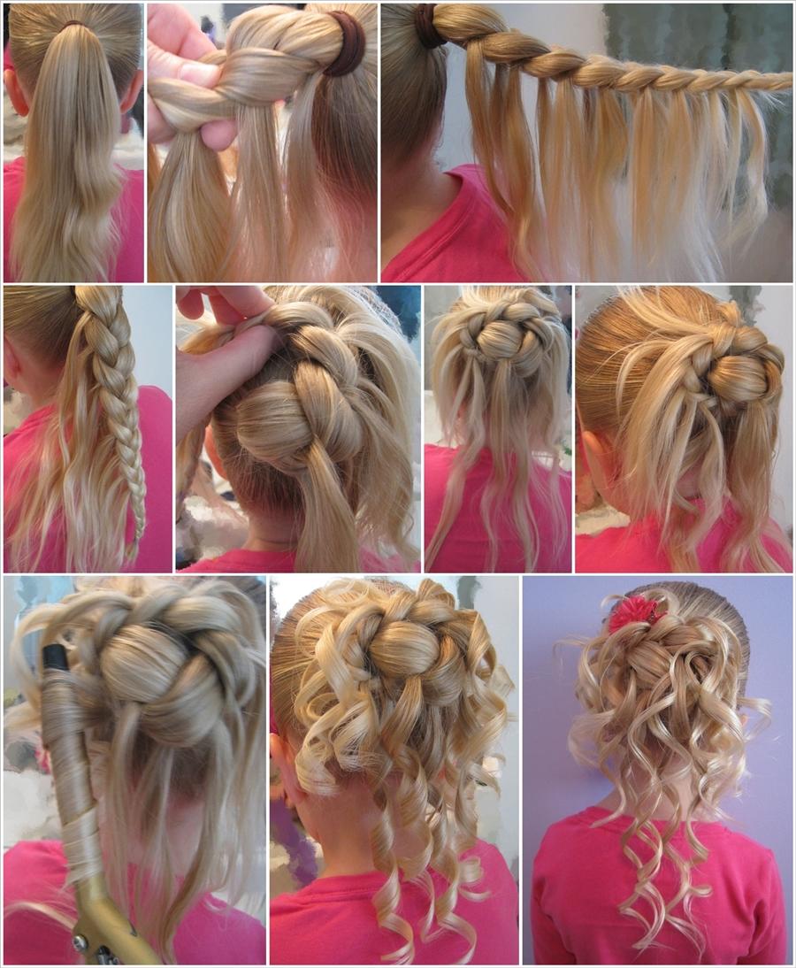 feather-braided-bun-  hairstyle