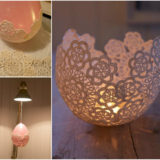 Decorative Doily Candle Holders – Handmade in Minutes