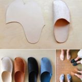 Simple DIY Homemade Slippers for Home
