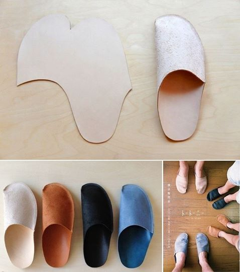 handmade slippers Simple DIY Homemade Slippers for Home