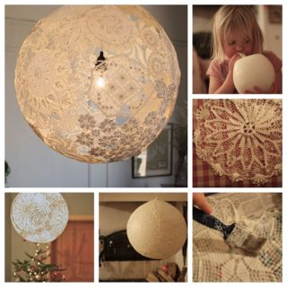 Wonderful DIY Beautiful Lace Lamp
