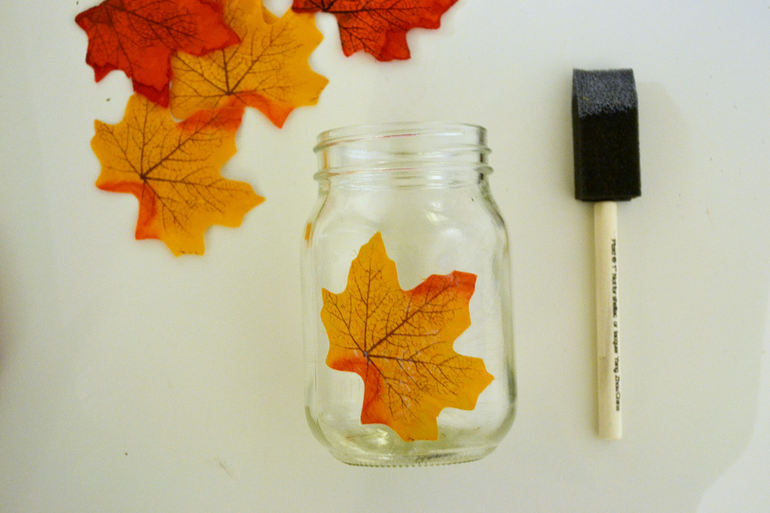leaf mason jar candle holder from mason jar2