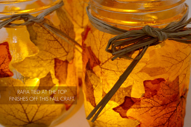 leaf mason jar candle holder from mason jar4
