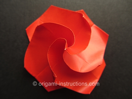 Fold origami flower - 7 ideas with folding instructions for ... | 338x450