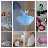 Wonderful DIY Creative Paper  Ballerinas With Napkin and Wire