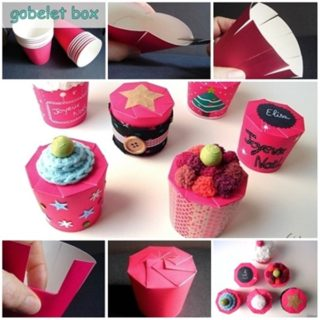 Wonderful DIY Pretty  Gift box With Paper Cup