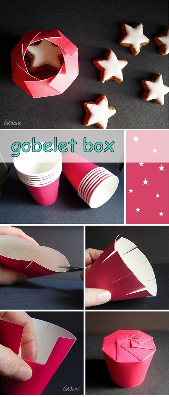 paper cup gift box2 Wonderful DIY Pretty  Gift box With Paper Cup