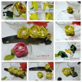 Wonderful DIY Ribbon Rose Hair Clip With Peal