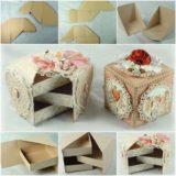 Beautiful Secret Jewelry Box Made from Cardboard