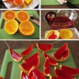 Wonderful DIY Sparkling  Orange Jello Shots
