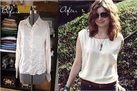 11wonderful Ideas to Refashion shirt into Chic Top11 25 Inspirational Ideas for Transforming Your Old Shirts