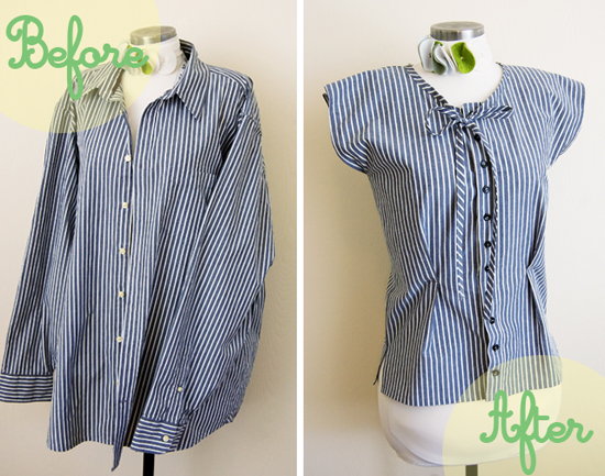 11wonderful Ideas to Refashion shirt into Chic Top9