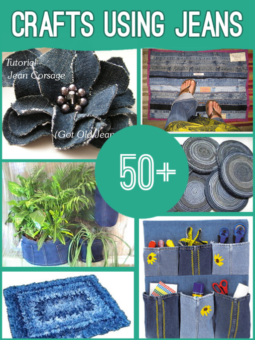 50 Wonderful ideas for Old Jeans  Wonderful 50 Craft Ideas for Old Jeans