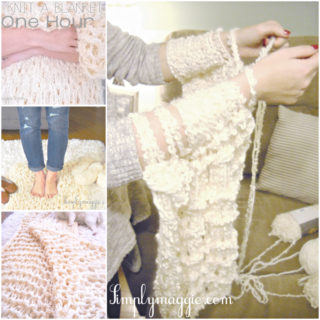 Wonderful DIY Arm Knitted Blanket