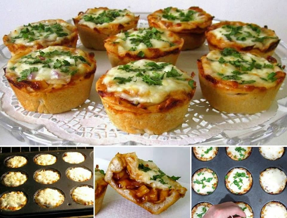 BBQ Chicken PIZZA Cupcakes WONDERFULDIY Wonderful DIY Quick Pizza Buns
