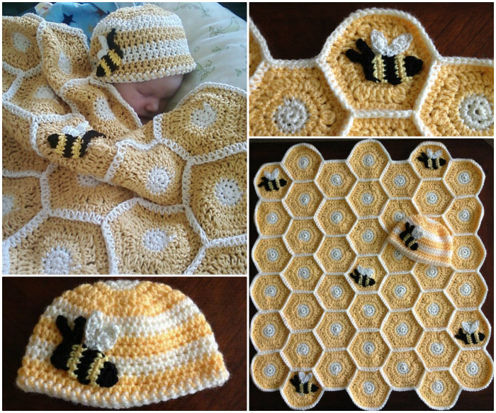 Baby-Blanket-and-Hat-Set
