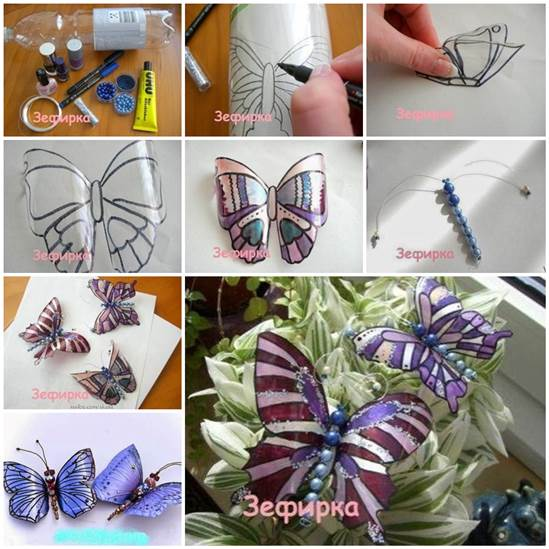 Beautiful Butterflies from Plastic Bottles F Wonderful DIY Pretty Butterfly from Recycled Bottle