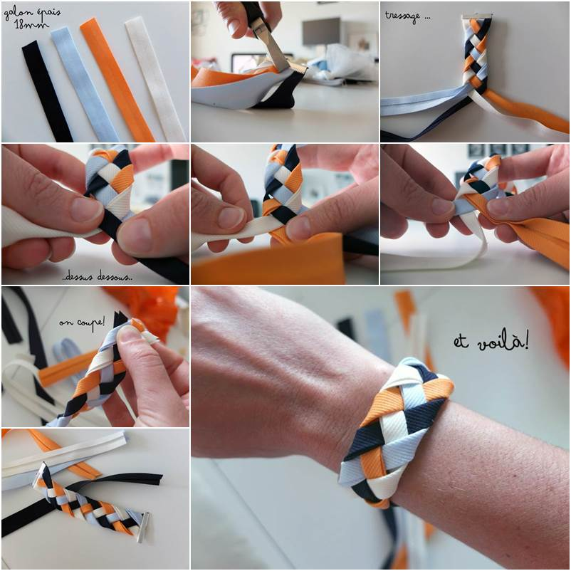 VIEW IN GALLERY Braided Ribbon Bracelet Wonderful DIY Pretty Flat
