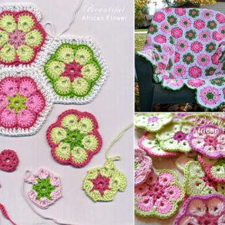 Crochet African Flower Blankets – Free Pattern and Video Tutorial