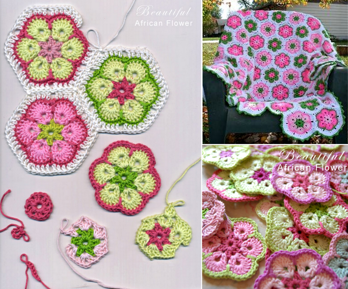 CROCHET African Flower  Crochet African Flower Blankets   Free Pattern and Video Tutorial