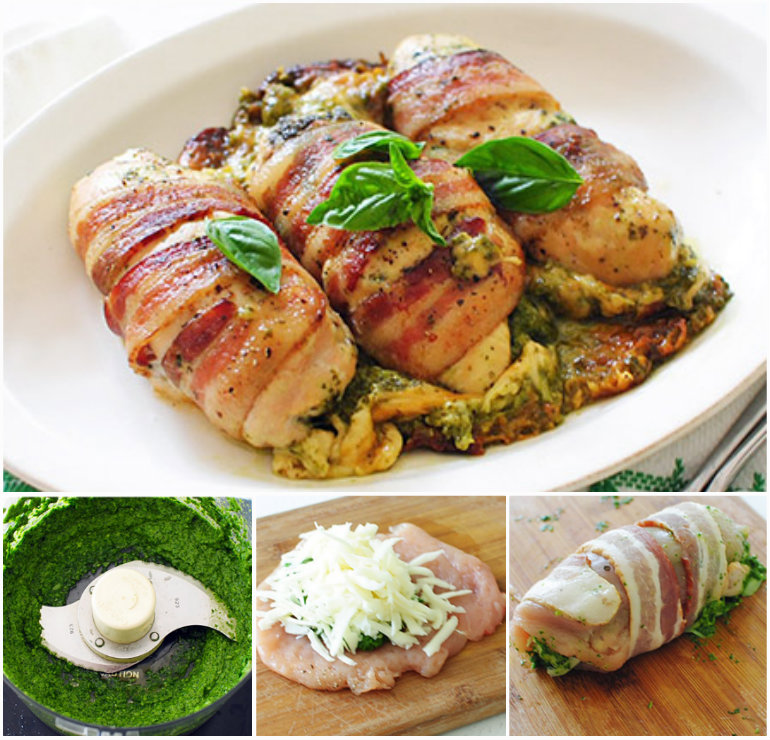 Cheesy Bacon Wrapped Chicken Breasts F Wonderful DIY Bacon Wrapped Chicken Breasts Stuffed with Pesto and Cheese