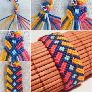 DIY Chevron Bracelet With Square Knot (Tutorial)