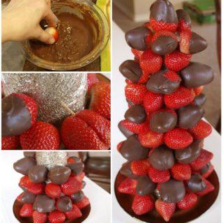 Wonderful DIY Sweet Chocolate Covered Strawberry Tower