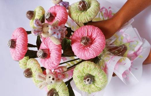 Chocolate  Paper Flower Bouquet10