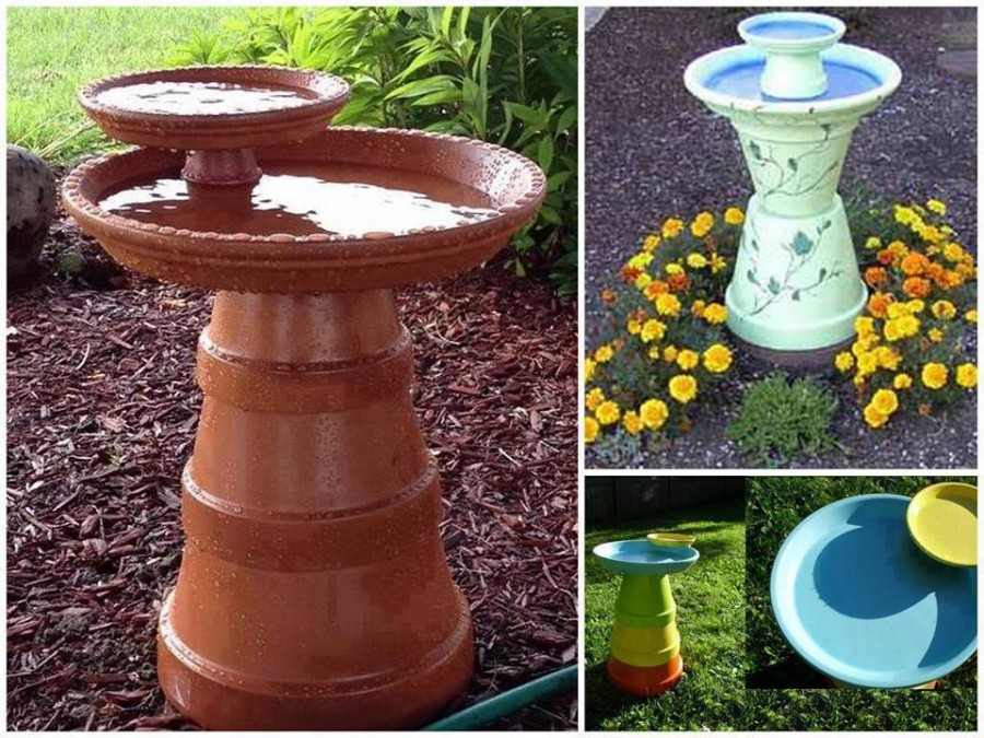 Clay Pot bird bath 2 Wonderful DIY  Easy Birdbath
