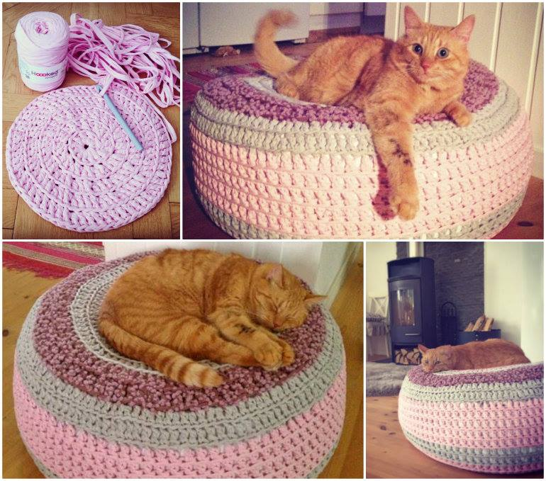 Cute And Cuddle Crochet Cat Cave
