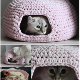 Cute and Cuddle Crochet Cat Cave – Free Pattern and Guide