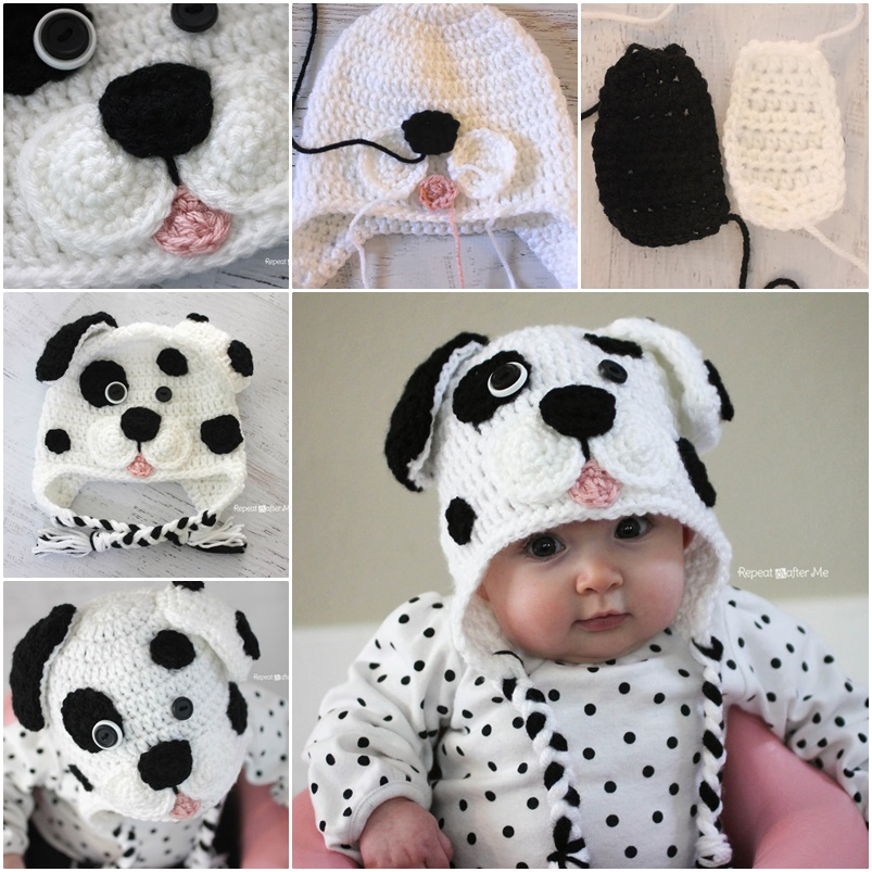 Wonderful Diy Cute Crochet Dalmatian Dog Baby Hat