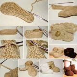 Wonderful DIY Crochet Wrap Around Button  Baby Booties