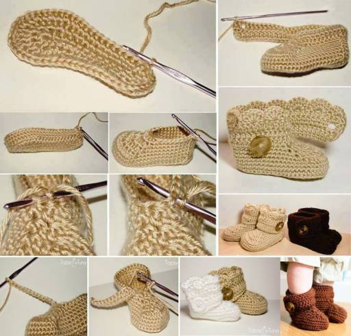 Crochet Lovely Baby Booties Wonderful DIY Crochet Wrap Around Button  Baby Booties