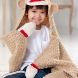Wonderful DIY Cute Crochet  Sock Monkey Blanket With Free Pattern